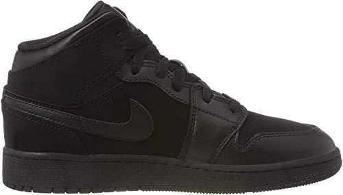 Nike Mädchen AIR Jordan 1 MID (GS) Basketballschuhe, Schwarz (Black/Dark Grey/Black 050), 38 EU