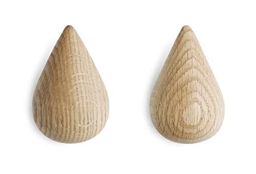 Normann Copenhagen Dropit - Appendiabiti in legno, naturale, altezza 9,3 x lunghezza 6 x diametro 8,7 cm