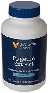 The Vitamin Shoppe Pygeum Extract 25MG, Supports Prostate Health, Standardized to 25 Phytosterols (100 Capsules)