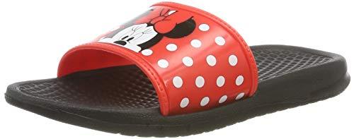 Minnie Mouse Girls Kids Aqua Slippers, Sandales Bout Ouvert Garçon Fille, Red Red, 30 EU