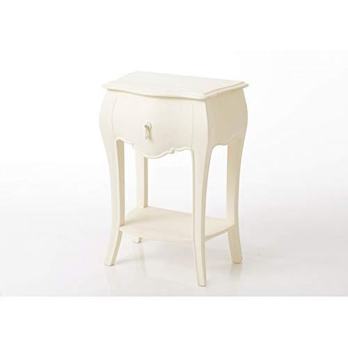 Amadeus - Table de Chevet 1 tiroir Connecte Murano Blanc cassé