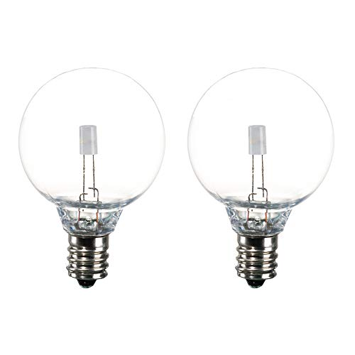 SUNTHIN 2 Pack RGB G40 Bulb for Color Changing Globe String Light