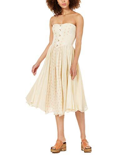 Free People Amanda Midi Dress (Ivory, L)