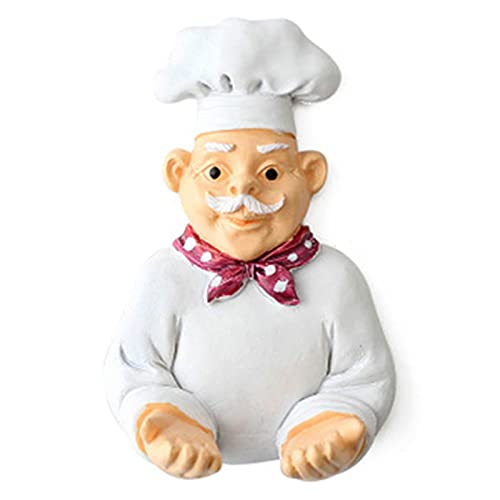 QIN Creativo Encantador Chef de Dibujos Animados Fuerte Gancho de Estante de Almacenamiento decoración de Pared Soporte de Enchufe