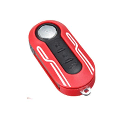 Viviance 3 knoppen Afstandsbediening Key Cover Case Line Styling Protector Plastic voor Fiat 500 Rood