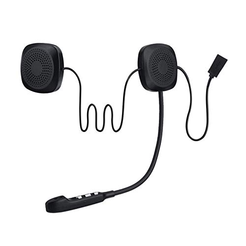 50m Impermeable Moto Bluetooth Inalámbrico Anti-Interferencia Casco Auriculares Manos Libres Bluetooth v4.2 Intercomunicador para Motocicleta (Color : A)