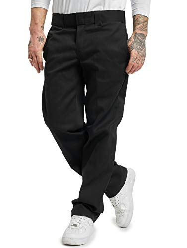 Dickies Men's Slim Straight Fit Work Pant, Black, 32X32