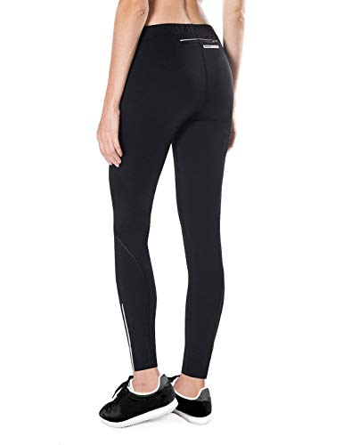 BALEAF Women's Thermal Running Tights Fleece Athletic Workout Leggings Pockets for Cycling, Hiking, Training, Gym Sports Black Size L