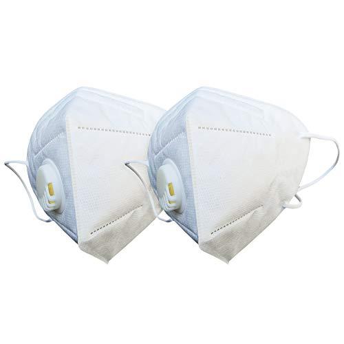 Gesichtsmaske mit Ventil, Weiß, CE-zertifiziert. (2)
