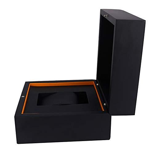 ZHUANYIYI Montre Boîte Noire PU Boîte De Rangement Boîte D'affichage De Bijoux en Cuir Cadeau Boîte Montre en Bois