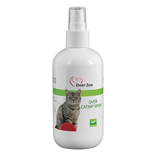 Over-Zoo Catnip Spray (250 ml) Beruhigendes Katzenminze Spray zum Anlocken deiner Katze