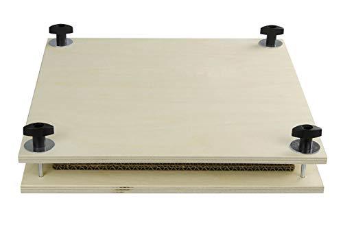 Pebaro BP1 Pressa per Fiori in Compensato di Betulla con 4 Inserti in Cartone, stampabile