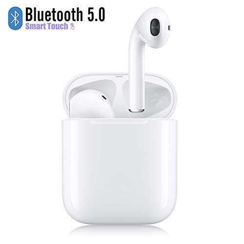 Wireless Earbuds Bluetooth 5.0 Headsets with【12Hrs Charging Case】 IPX5 Waterproof, 3D...