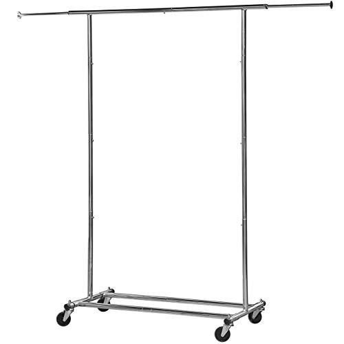 Simple Houseware Heavy Duty Clothing Garment Rack, Chrome