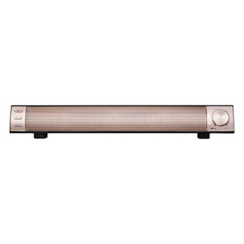 Soundbar10W Barra de sonido inalámbrica con altavoz Bluetooth subwoofer portátil TV PC 3D estéreo música envolvente altavoz sistema de cine en casa (tamaño: 420 x 62 x 62 mm; color: oro rosa)