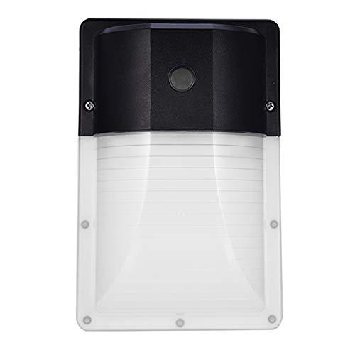 JCPGW Lámpara de Pared Sensor de luz LED de luz Barn Aplique de jardín al Aire Libre Porche Shed Pasillo Pasillo Garaje Patio Taller Patios Almacenes 13W 5000K IP65