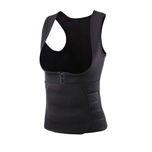 Youmymine Womens Sauna Sweat Waist Trainer Vest Weight Loss Waist Cincher Corset Trimmer Belt Slimming Body Shaper (Black, L)