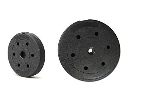 LIFESPORT Placa de Pesas 5kg 7.5kg 10kg 15kg - Disco para Mancuernas 1pc o 2 pcs – Disco para Pesas – Material Eco – para Ejercicio, masculacion, Body Building– Color Negro. (10kg (2 Piezas))