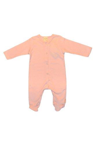 Lana Naturalwear Combinaison avec pieds poudre/beige rayé - Rose - 6 mois