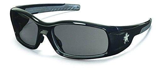 Crews SR112 Swagger Safety Glasses Polished Black Frame w/ Gray Lens (12 Pair)