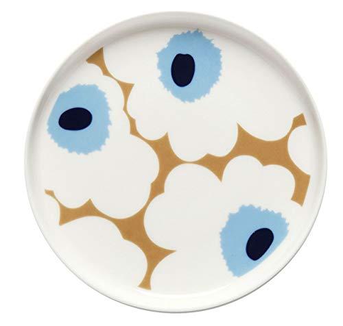 UNIKKO Plate 13,5 cm beige, Off White, Blue