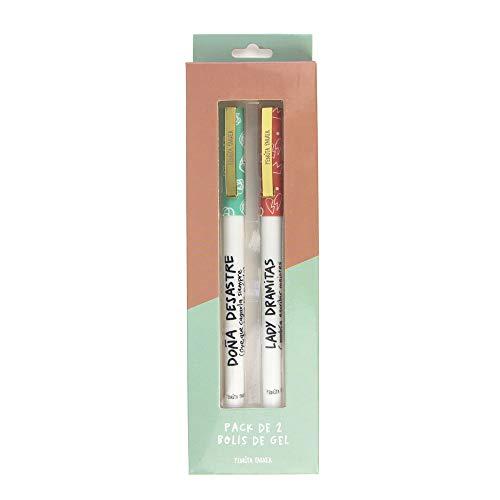 Pedrita Parker 1000828 Pack 2 Bolígrafos de gel Desastre y Dramitas