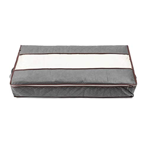 Large Underbed Storage Bag Foldable Underbed Storage Clothes Storage Organiser for Comforters, Blankets, Bedding, Foldable with Sturdy Zipper Grey