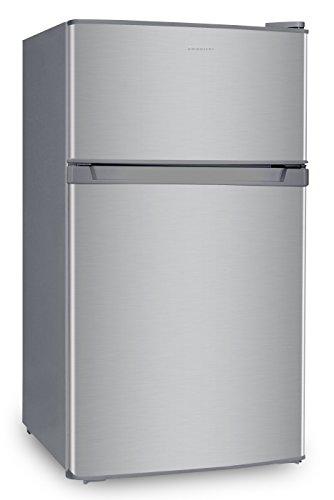 Frigorífico INFINITON FG-1720 Table Top - 85 litros,A+,Congelador 4****,2 Puertas, Luz Interior LED (Silver)