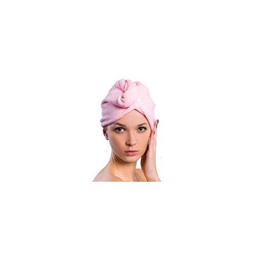 Serviette Cheveux En Microfibre Séchage Rapide Ultra Doux Turban Super Absorbante Bonnet De Douche Séchant Sèche Serviette De Bain Rose
