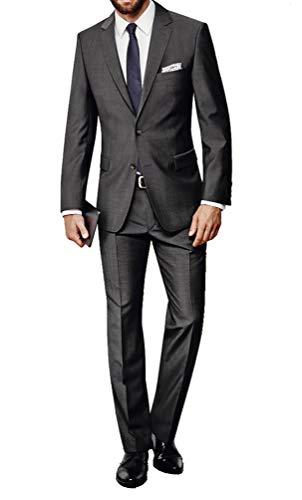Michaelax-Fashion-Trade Atelier Torino - Herren Baukasten Anzug aus Reiner Schurwolle, Weber: Marzotto, Prestige SS/Rex (861100), Größe:28.5, Farbe:Anthrazit (20)