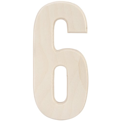 """MPI Baltic Birch University Font Letters & Numbers 5""""-Number 6"""