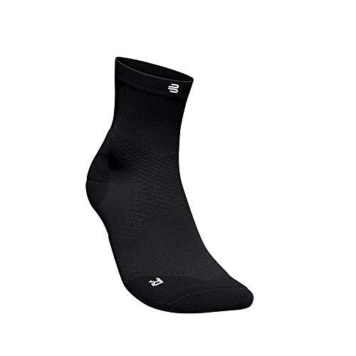 BAUERFEIND Men's Run Ultralight Mid Cut Socks Laufsocken, Schwarz, 41-43