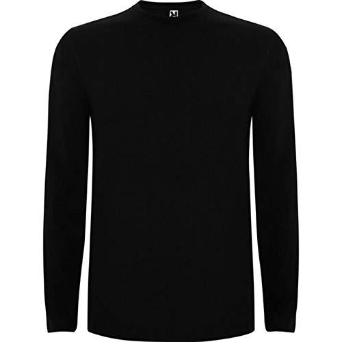 Camiseta Personalizada Hombre Manga Larga Varias Tallas • 100% ALGODÓN • IMPRESIÓN Directa (DTG) • Camisetas PERSONALIZAS SE Imprimen Directamente sobre Tejido (Negro, 2XL)
