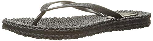 ILSE JACOBSEN HORNBÆK | Cheerful01 | Flip Flops with Glitter | Black | 38 EU