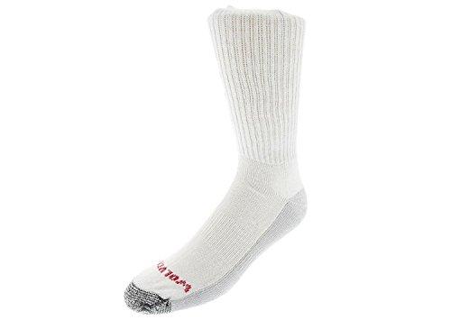 Wolverine Men's 6 Pack ST Boot Sock White, Large