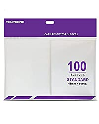 powerful Toupeone 100 Premium Card Envelope Mat, Standard Plastic Transparent Trading Card Sleeve…