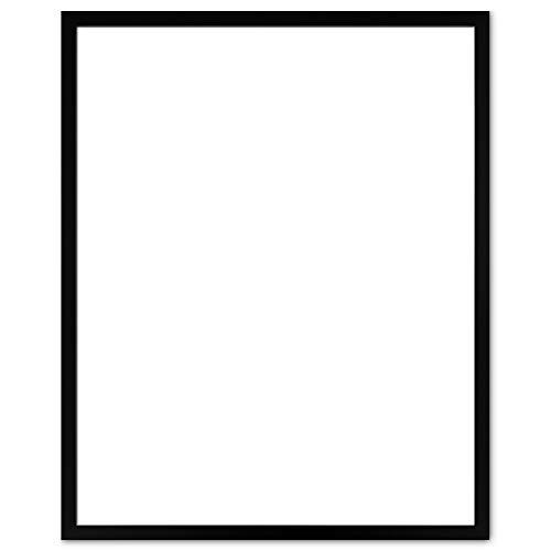 BIRAPA Bilderrahmen Calea Premium 80 x 100 cm in Schwarz Matt mit 2 mm Antireflex Kunstglasscheibe und weißem Hintergrund