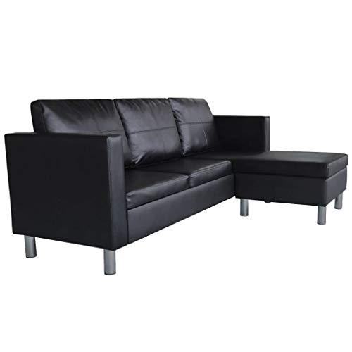 Ecksofa Couch –  günstig Festnight 3-Sitzer L-Form Bild 4*