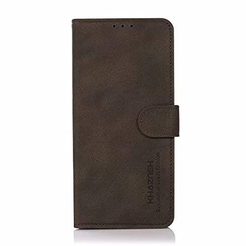 Realme V13 5G/Realme 8 5G - Funda tipo cartera para teléfono con tarjetero (piel sintética, cierre magnético, función atril, protección contra golpes, compatible con Realme V13 5G/Realme 8 5G y 5G