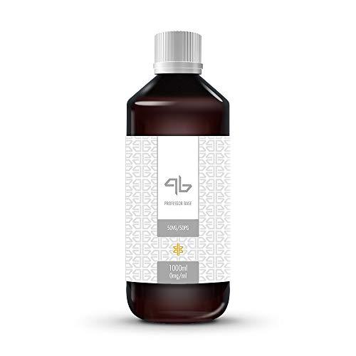 Deutsche Liquid Base | Professor Base eLiquid Basis 1000ml für Aromen (50 PG | 50 VG) 1L Made in Germany