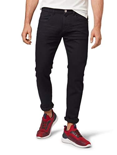 TOM TAILOR Herren Jeanshosen Troy Slim Jeans Blue Black Denim,32/34