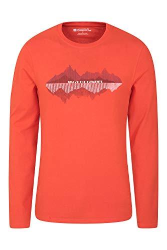 Mountain Warehouse T-Shirt Brave The Elements pour Homme - T-Shirt léger, Respirant et Facile d'entretien - Idéal pour la Salle de Sport, Le Sport et Le Cyclisme Rouge XL