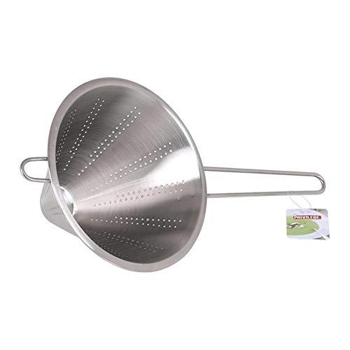 DAKE Colador Chino 20 Cm Cocina Profesional Fino Varilla Plateado Acero Inoxidable