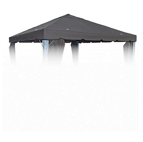 BURI Pavillion Ersatzdach Anthrazit für 3x3 Pavillon Pavillondach Partyzelt Dachplane