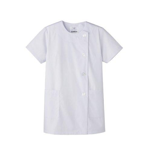 『おしゃれ感と機能性を高めた【女性用白衣】(半袖)《019-FA-787》 (4L)』のトップ画像