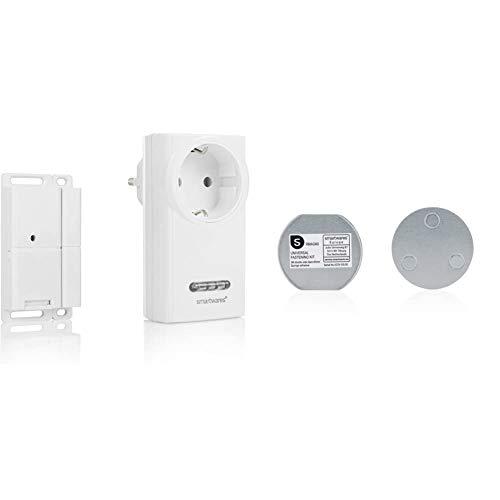 Smartwares Funk-Abluftsteuerung mit Fenster-Magnetkontakt und Funksteckdose für Dunstabzugshaube, Sh5-SET-KHC & Magenthalter für Rauchmelder/6 cm Ø/Magnetbefestigung für Rauchmelder, RMAG60