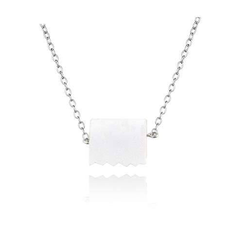 PHILSP Luftreiniger Roll Paper Dangle Drop Ohrringe Halskette Lustige 3D Tissue Geometric Drop Ohrringe Halskette