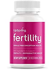 Fertility Supplement Pills for Women by UpSpring Baby to Support Ovulation and Egg Quality with Black Cohosh, Maca Root and Shatavari, Preconception and PCOS Supplement
