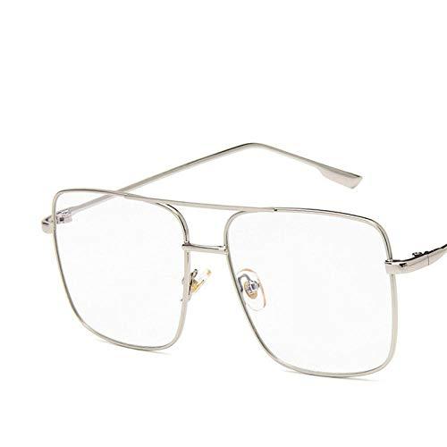 zxldsjhd Gafas de sol demonturagrande Mujeres Lentes de océano Gafas para mujeres Gafas RetroUv400 @ Silver