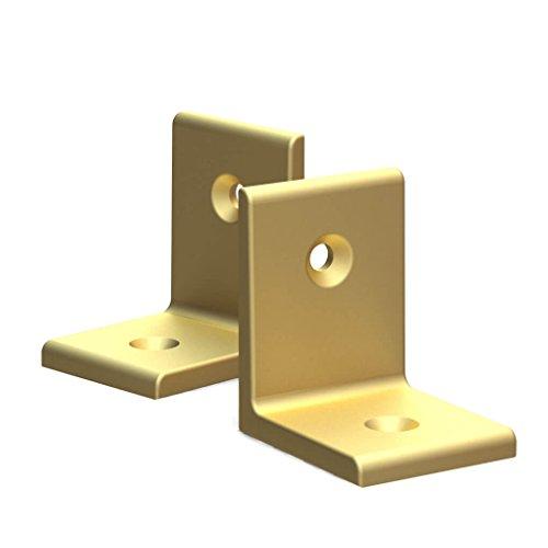 BUNT & PFIFFIG Winkelverbinder Doppelpack aus Aluminium verschiedene Farben 2 Stück 2er Pack eloxiert Gold